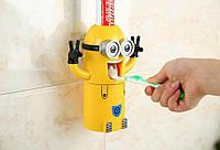 Дозатор для зубной пасты детский Миньон + держатель для двух зубных щеток (0020)