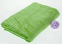Махровая простынь зеленого цвета