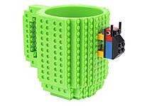 Детская чашка для ребенка Build On для игры с Lego  Зеленый