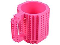 Детская чашка для ребенка Build On для игры с Lego  Малиновый
