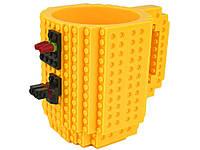 Детская чашка для ребенка Build On для игры с Lego  Желтый