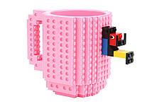 Детская чашка для ребенка Build On для игры с Lego  Розовый