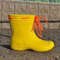 Сапоги демисезонные женские из пены, желтые, без утеплителя. Размеры 36, 37, 38, 39, 40, 41. JoAm 119210.