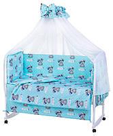 Комплект детского постельного в кроватку, бортики, защита от производителя