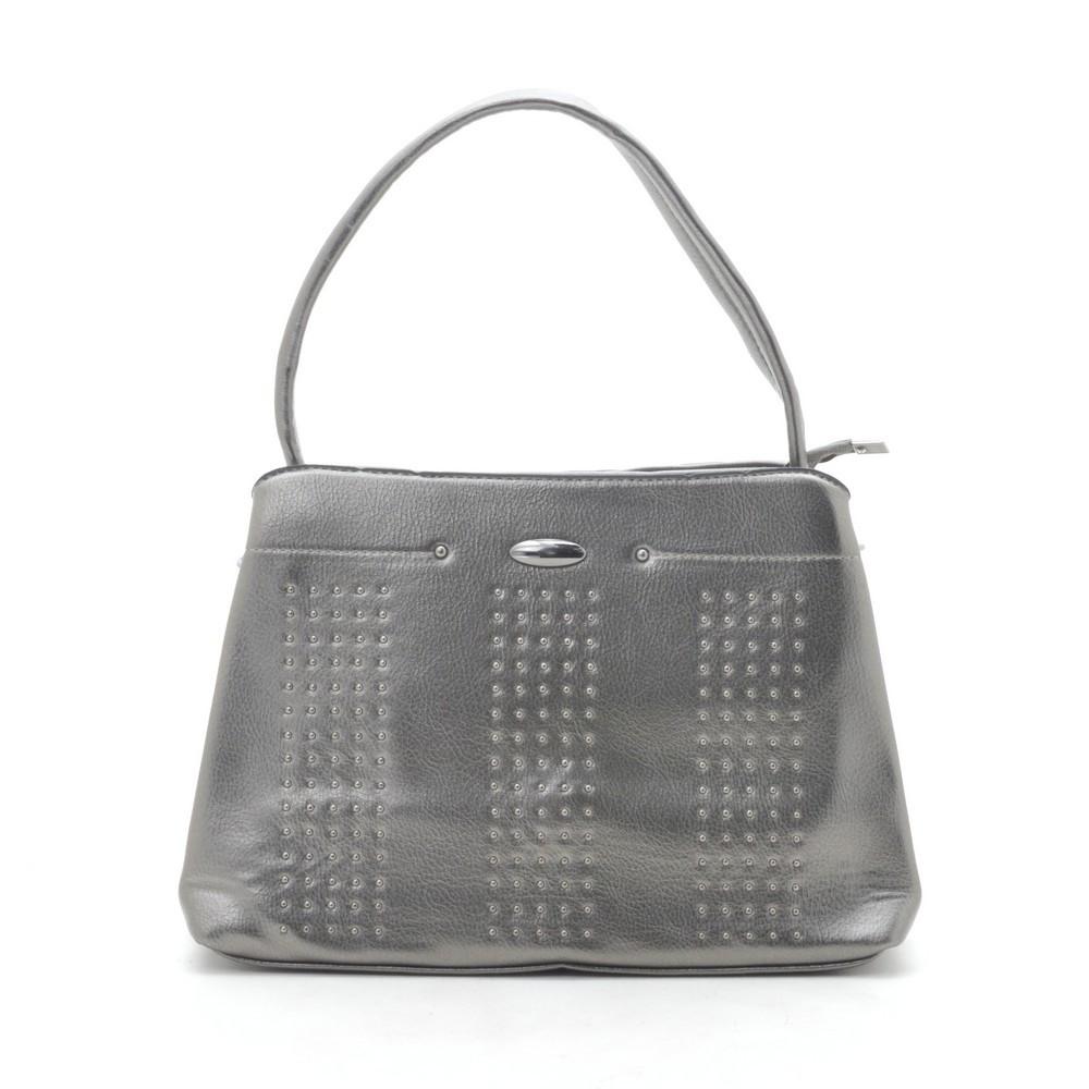 Женская сумка 6328 т.серебро