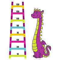 Виниловая наклейка Детская на стену Ростомер Динозавр