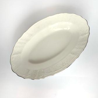 Блюдо овальное с бортом Thun Bernadotte (Наречена) длина 24 см фарфор (3632021)