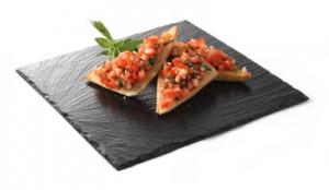Блюдо сланцевое Hendi  квадратное 2 штуки 25х25 см h0,5 см (424650)