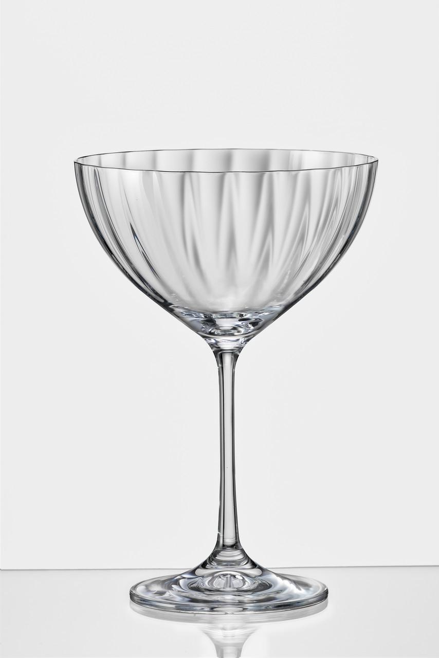 Набор бокалов для коктейля Bohemia WaterfallНабор бокалов для коктейлей 6 штук 340мл богемское стекло (40751/OPT22/340)