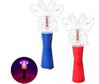 Волшебная палочка микрофон + бабочка MK 3381 светится