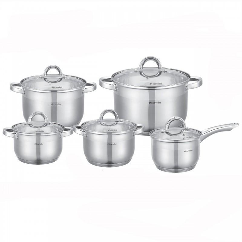 Набор посуды Kamille  12 предметов нержавейка (5633S K)