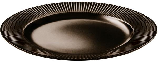 Тарелка обеденная Ipec ATENA коричн. d27 см керамика каменная (FIA27M 1сорт)