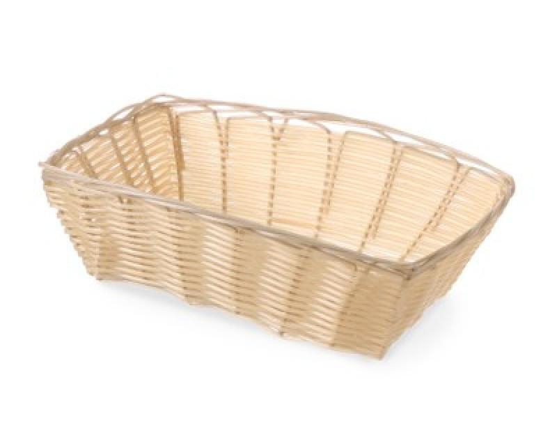 Корзина для хлеба Hendi прямоугольная светло-коричневая 1/1 22,5х15 см h6,5 см пластик, Хлебница прямоугольная