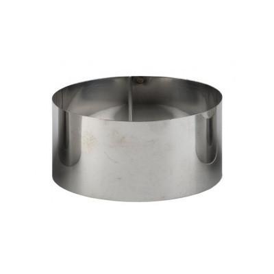 Форма кондитерская Steelay  круглая d13 см h4,5 см нержавейка (зерк 130/45)