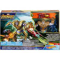 Трек Хот Вилс Мстители против Таноса  Hot Wheels Marvel Avengers Vs Thanos Showdown Mattel FLM81