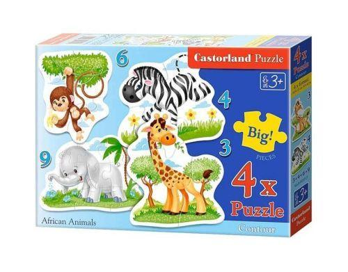 """Пазлы Castorland 4 в 1 """"Африканские животные"""""""