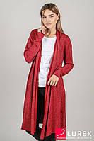Яркий кардиган с нитями люрекса P-M - красный цвет, XL/XXL (есть размеры)
