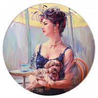 Lefard Тарелка декоративная Дама с собачкой 20 см