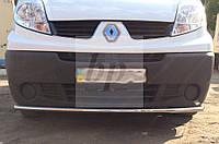 Защита переднего бампера (одинарный ус/губа) Opel vivaro (опель виваро 2001+)