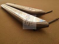 Боковые пороги площадки (труба с листом) порошок+дюраль Opel vivaro II B (опель виваро б 2014+)