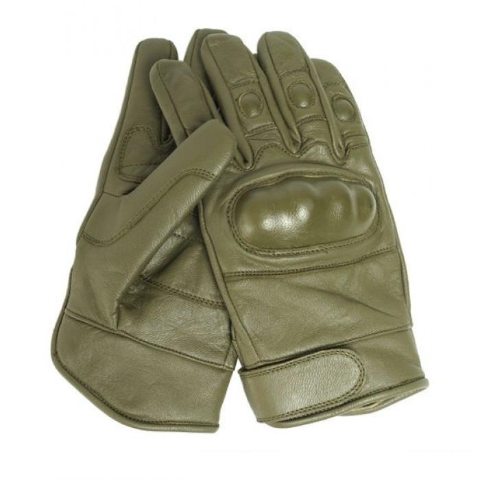 Тактические перчатки (кожаные) -  Mil-Teс (Германия), олива.