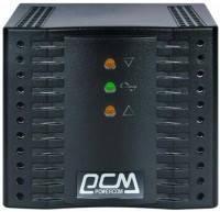 Стабилизатор напряжения PowerCom TCA-1200 black (TCA-1200 black) 1200 VA, 600 Вт, 110-240, 220 ± 7%, 1, релейн