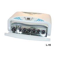 Лампа для гелевого наращивания на 2 руки №717, белый, мощность 42W,  шесть лампочек по 7Вт, вентилятор, таймер (120,180,300 сек), зеркальные
