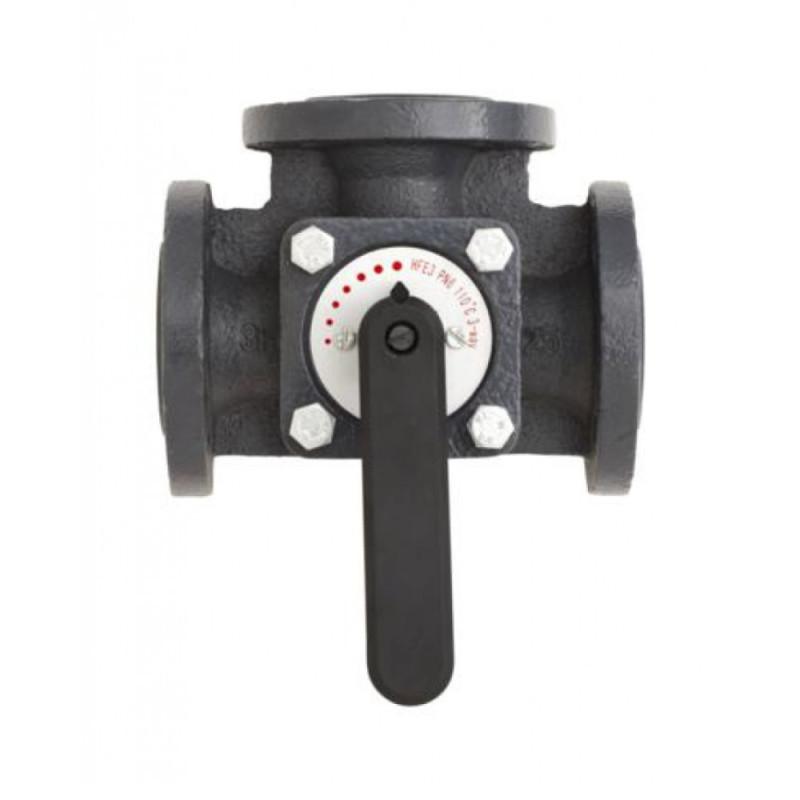 Клапан чугунный трехходовой поворотный Danfoss HFE3 DN80 065Z0434