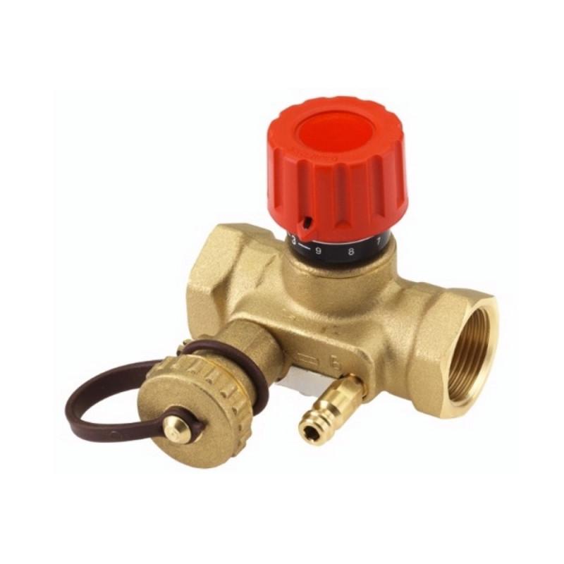 """Балансировочный клапан Danfoss USV-I1"""" с дренажным краном 003Z2133"""