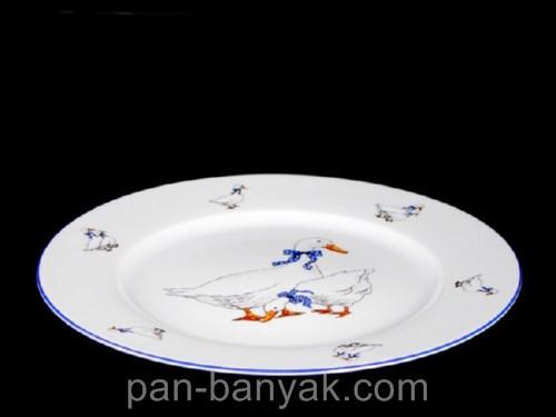 Тарелка обеденная Thun Гуси d25 см фарфор (P1210045)