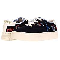 Кроссовки Soludos Paris Platform Sneaker Navy - Оригинал