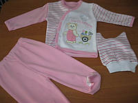 Комплект для новорожденных 3 мес, Мишка садовник  для девочек