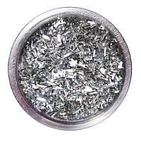Соломка в баночке для ногтей серебряная №1 А286-1
