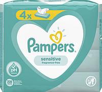 Pampers. Детские Влажные Салфетки Sensitive 4х52 шт (8001841062624)