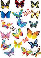 """Картинка вафельная А4 """"Бабочки -1"""""""