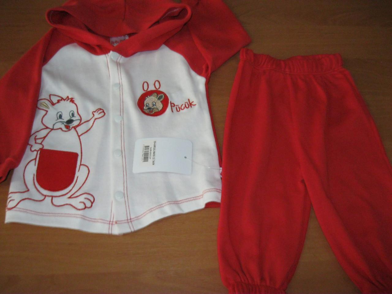Костюм з капюшоном для новонароджених - кенгуру 3-6, 6-9 міс Туреччина