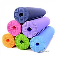 Коврик для занятия йоги и фитнеса 173x61x0.5 см, йогамат