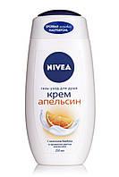 Nivea . Гель для душа Крем Апельсин 250 мл (4005801202895)