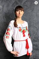 Вышиванка блуза  женская  Маки в. 2000 ( С.Е.С.)