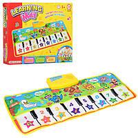 Коврик развивающий детский Пианино, муз, звуки животных 72-29см, в коробке