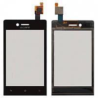 Touchscreen (сенсорный экран) для Sony Xperia Miro ST23i, черный, оригинал