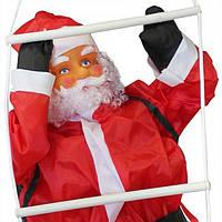Новогодняя Игрушка Подвесной Santa Claus Декор для Дома Санта Клаус с Мешком Лезет по Лестнице 85 см