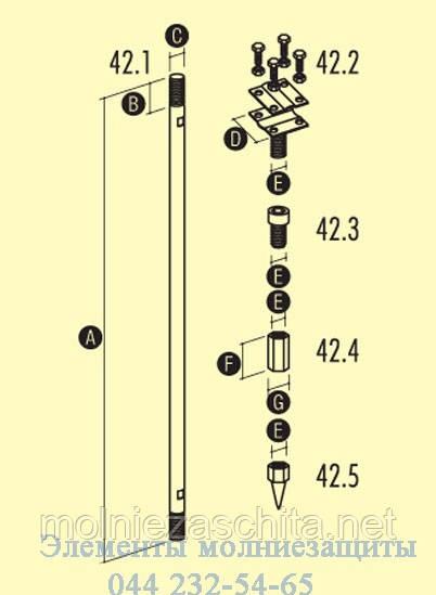 Комплект заземлитель штыревой 3-х метровый