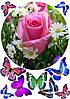 """Картинка вафельная А4 """"Цветы2 """"(d19см)"""