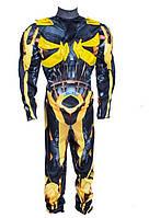 Детский карнавальный костюм Трансформер Бамблби с мышцами 1-9 лет (С, М, Л)