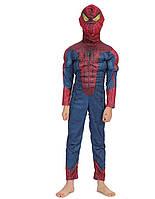 Костюм Человека паука, Спайдермена с мышцами 1-9 лет (С, М, Л)
