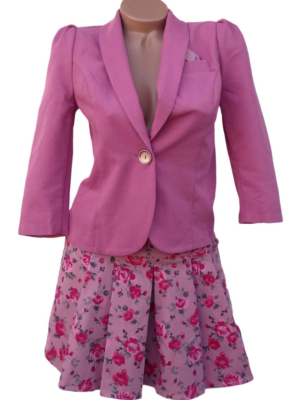 Женский костюм: пиджак и юбка (разные расцветки 44-50)