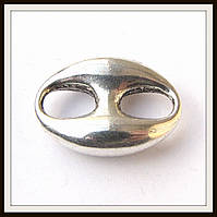 Вставка (замок) для браслетов  (2,5*1,8 см) 2 шт
