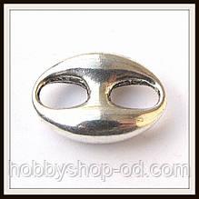 Вставка (замок) для браслетів (2,5*1,8 см) 2 шт