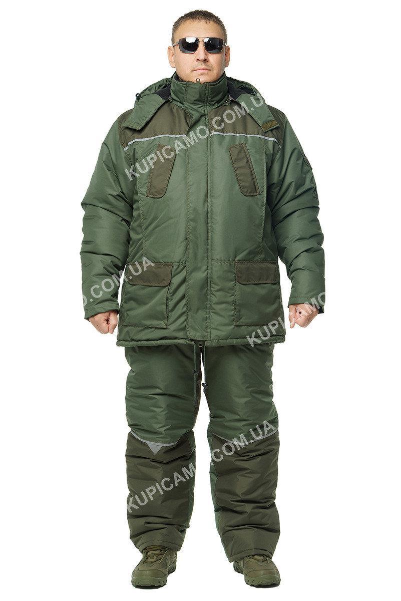 """Зимовий костюм для рибалок і мисливців """"турист"""" -30 """"Олива - хакі"""""""